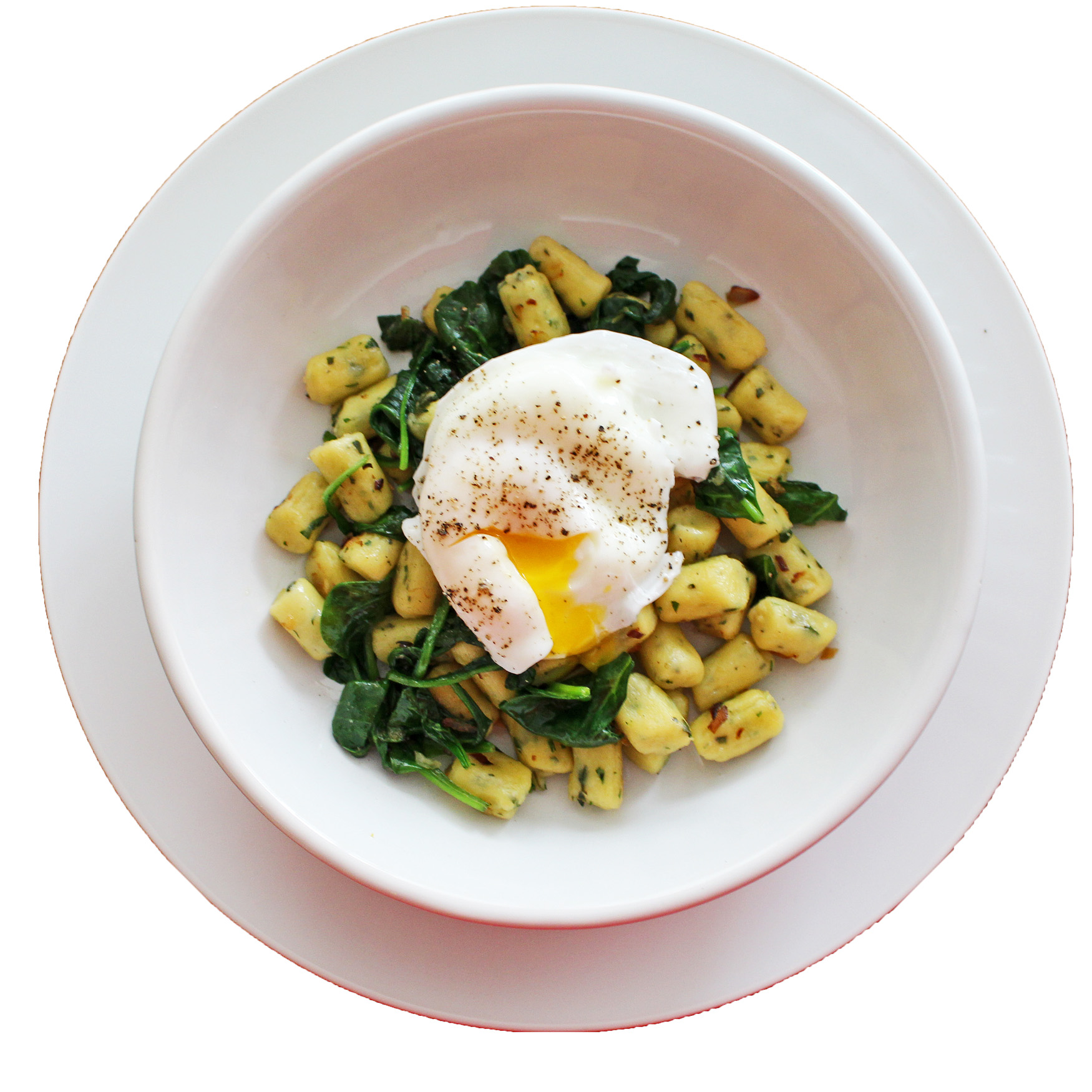 Parisienne Gnocchi with Spinach, Onions and Poached Eggs 5. Making ...