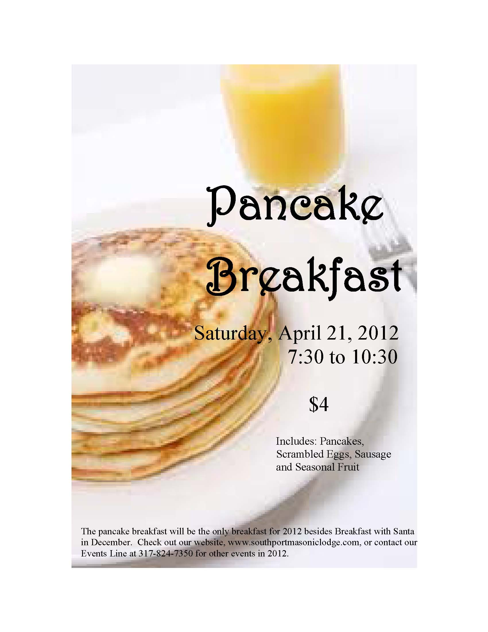 southport masonic lodge events pancake breakfast saturday 21 2012 7 30am to 10 30am