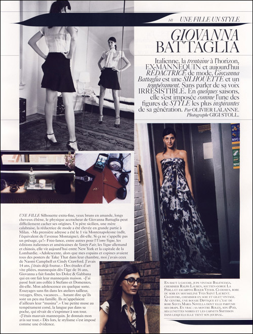 Superbe Style Pour Fille #13: Giovanna Battaglia: Une Fille Un Style - Journal - I Want To Be A Battaglia