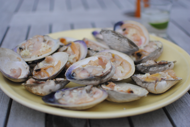 Eclectic Mom - Home - grilled clams with garlic butter
