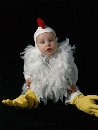 my friend jodi created this brilliant chicken costume for martha kids magazine when lila was a baby lauren dressed her in this costume for her
