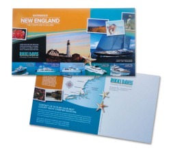 A colorful direct mail piece that stands out in the mail ...