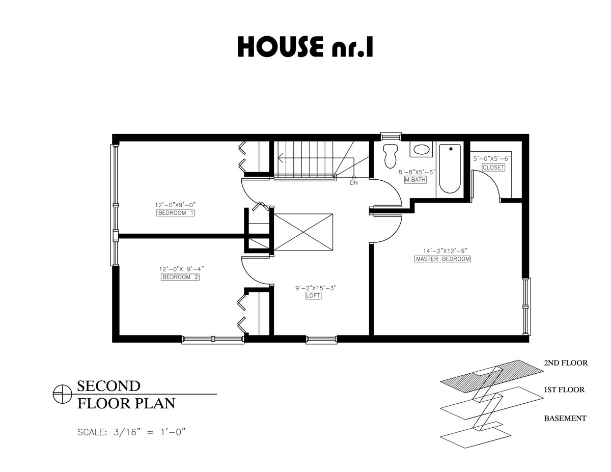 2 bedroom house plans open floor plan modern house for 2 floor building plan