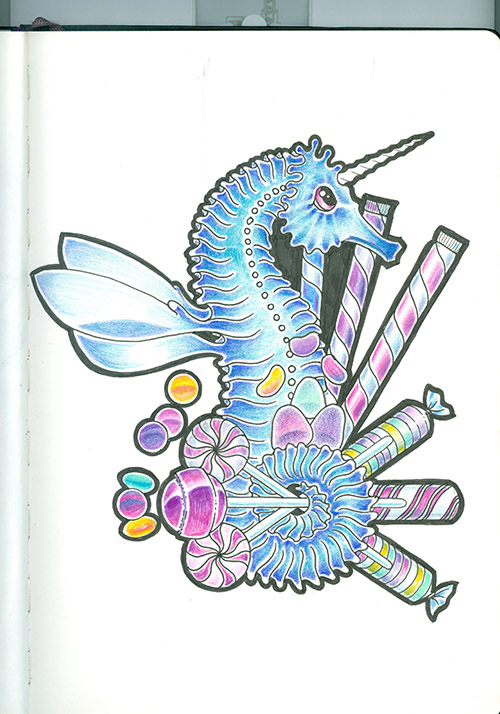 Candy Crushing Seahorse