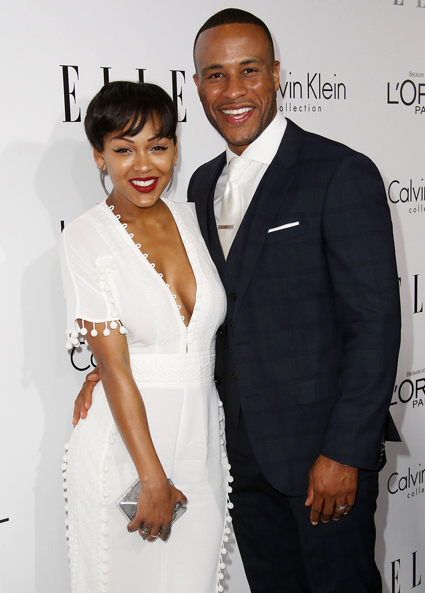 Preachers wife meagan good debuts new haircut goes risquagain source frederick m browngetty urmus Images