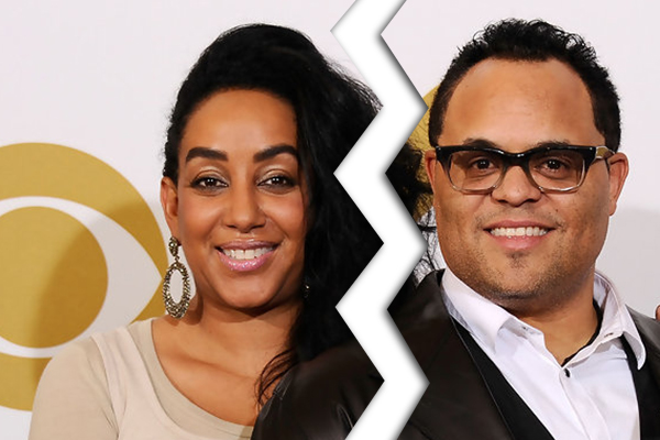 Israel Houghton with ex-wife Meleasa Houghton