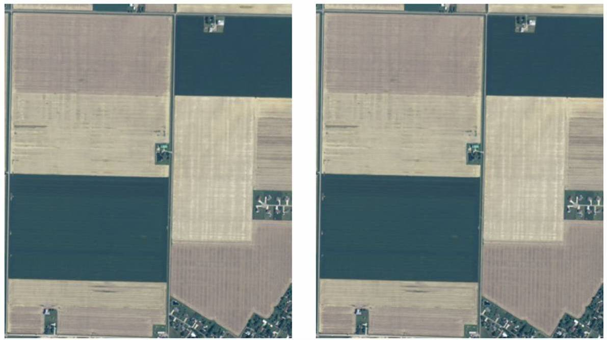 Aster vs. Landsat Satellite Imagery True Color Comparison