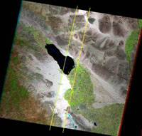 Landsat 7 center area without missing data