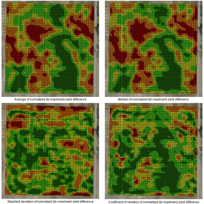 Yield map statistical mapping