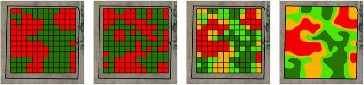 Landsat or Sentinel-2 Satellite Imagery Yield Quantity and Variability Management Zones for Precision Agriculture