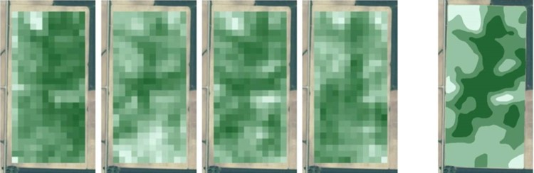 Landsat or Sentinel-2 Satellite Imagery Yield Quantity Solely Management Zones for precision agriculture