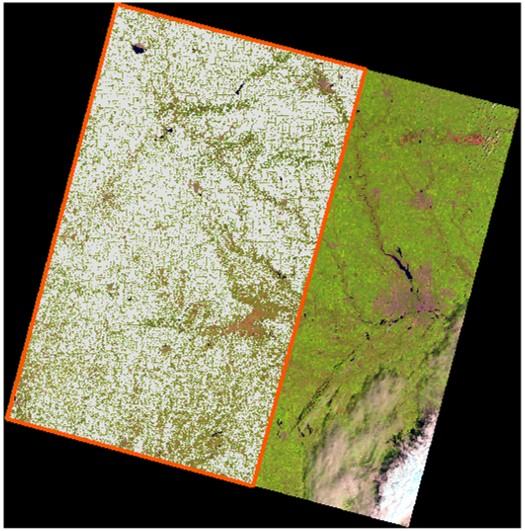 Landsat 8 DOS surface reflectance comparison extent