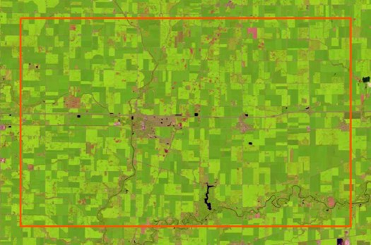 Landsat 8 Atmospheric Correction / Surface Reflectance Tutorial Imagery Download Extent