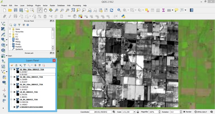 Course 1B - Downloading Free Landsat 8 & Sentinel-2 Imagery from this Website and Opening in QGIS