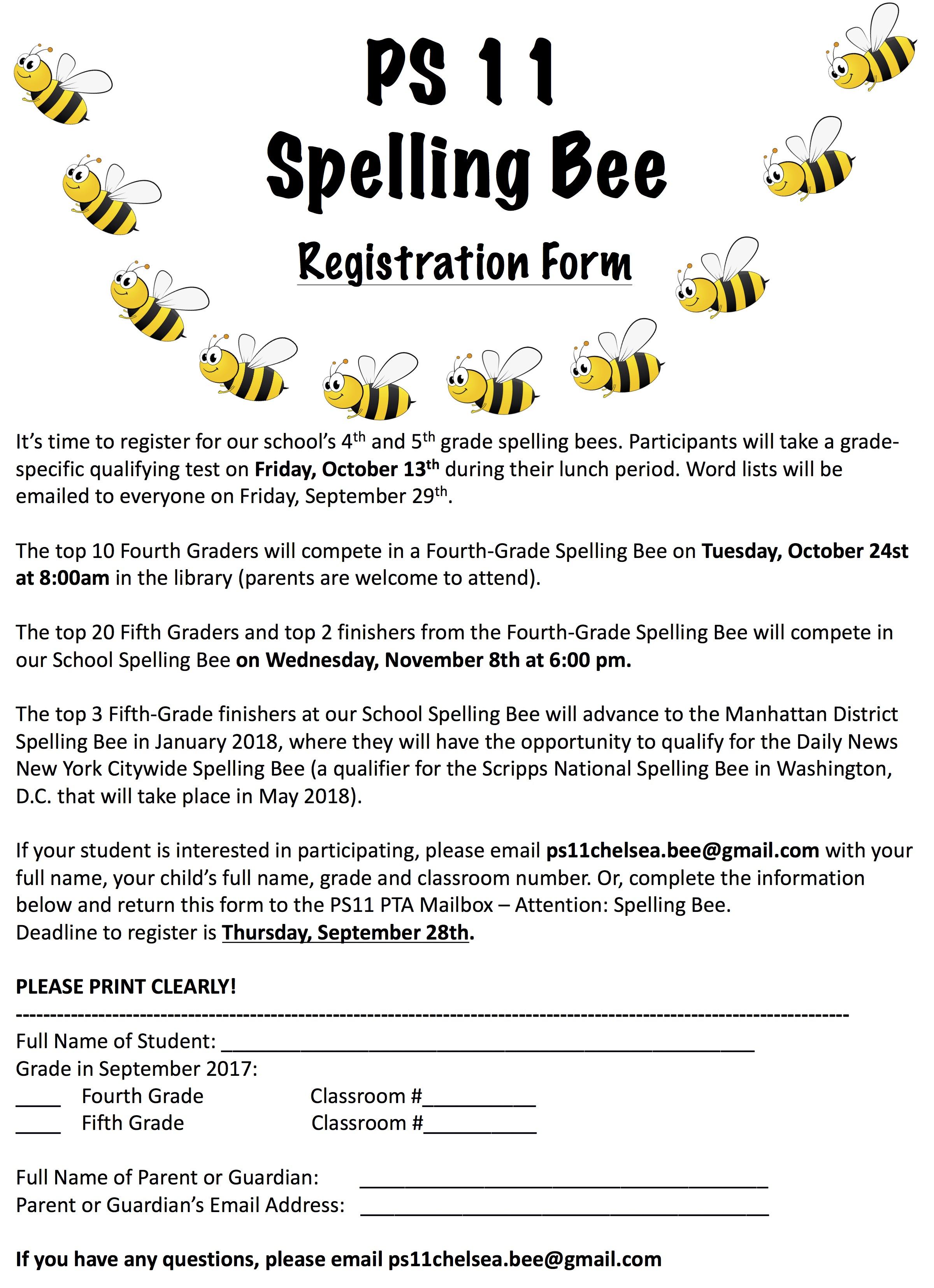 5th grade spelling bee worksheets