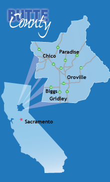 Butte County Economic Development Corporation Towns Cities - Butte county map