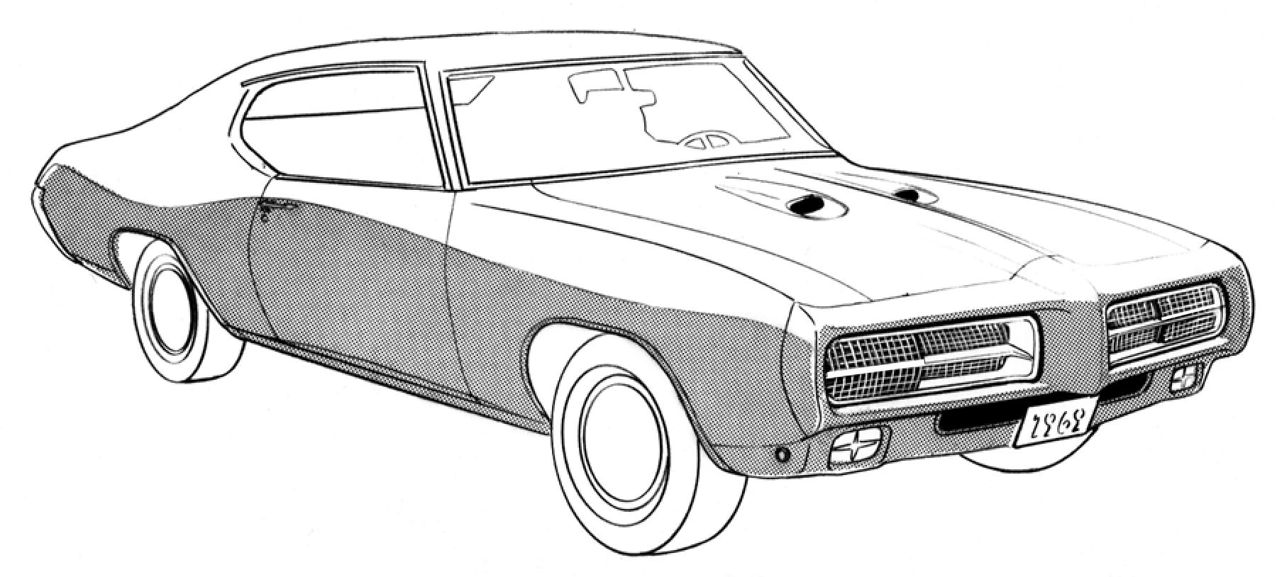 image gallery 1969 gto drawings1969 Pontiac Gto Drawing #12