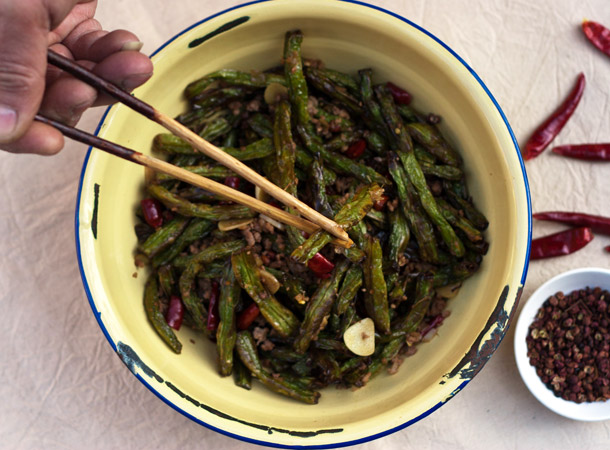 Fried Sichuan (Szechuan) Green Beans Recipe - Home - Feeding the ...