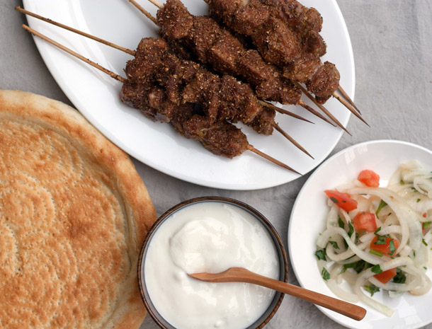 Grilled xinjiang lamb kebabs recipe with yogurt home feeding the lamb used to not be a meat i thought about cooking with it can be on the expensive side and i thought id just rather eat beef or order rack of lamb forumfinder Image collections