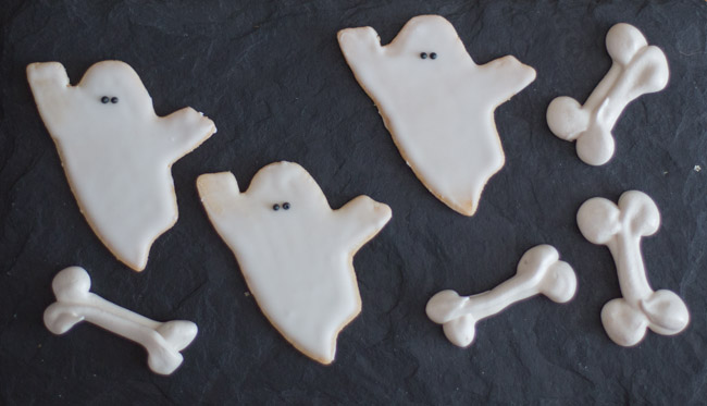 ghost sugar cookies meringue bones