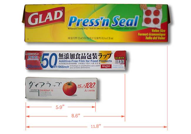 glad press n' seal japanese plastic film