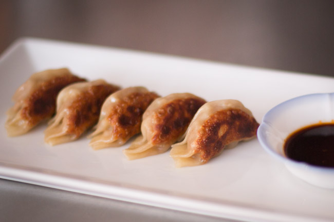 gyoza pork dumplings cooked