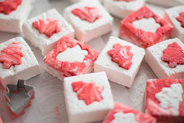 holiday puzzle marshmallows peppermint orange christmas tree