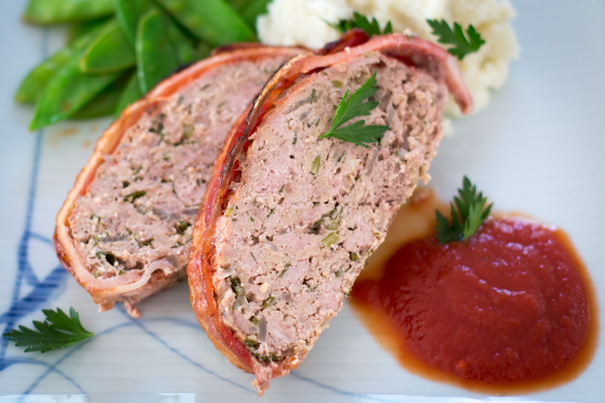 TVP meat loaf meatloaf sliced