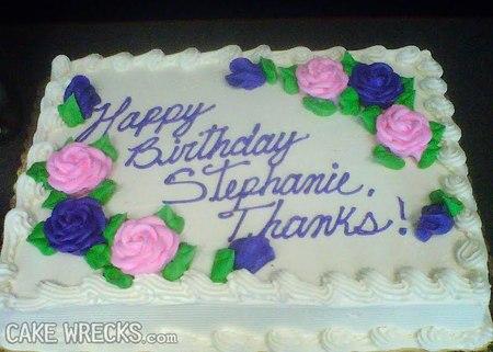 Cake wrecks birthday lisa