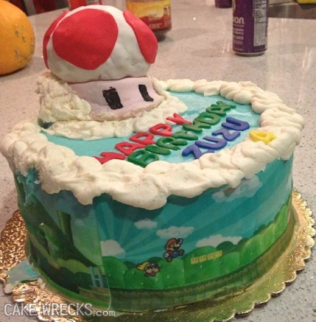 Sorry, Mario! Your Cake Wreck Is RIGHT HERE.