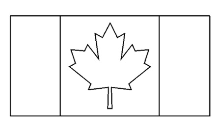 flag coloring pages canada - photo#10