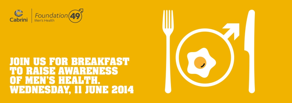 Join us for breakfast to raise awareness of men's health (Melbourne)