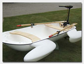 White Frog Boat with electric motor