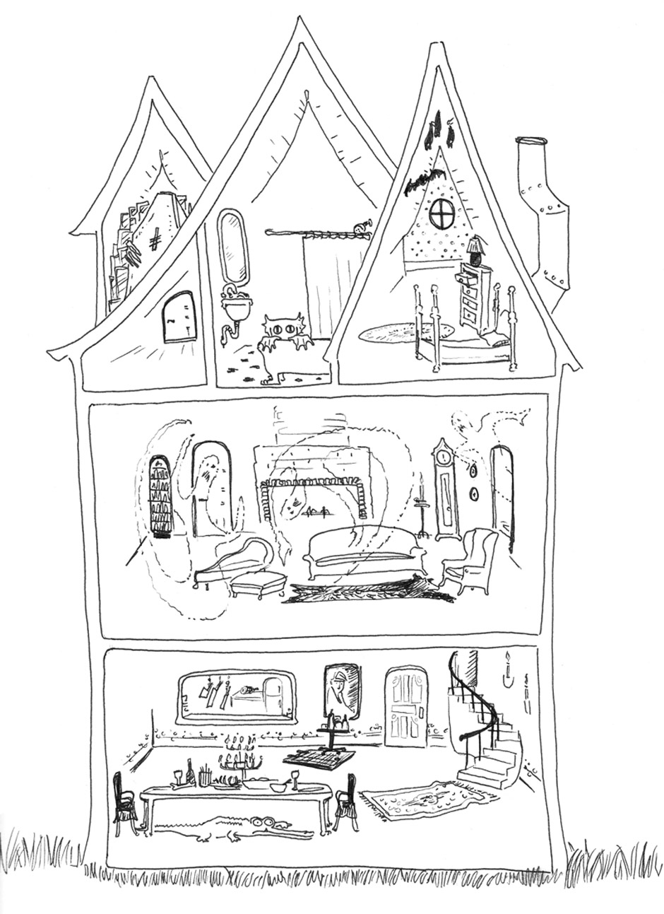 Inside House Drawing: Inside Dollhouse Coloring Pages Coloring Pages