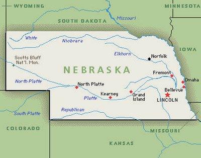 Image result for map of nebraska