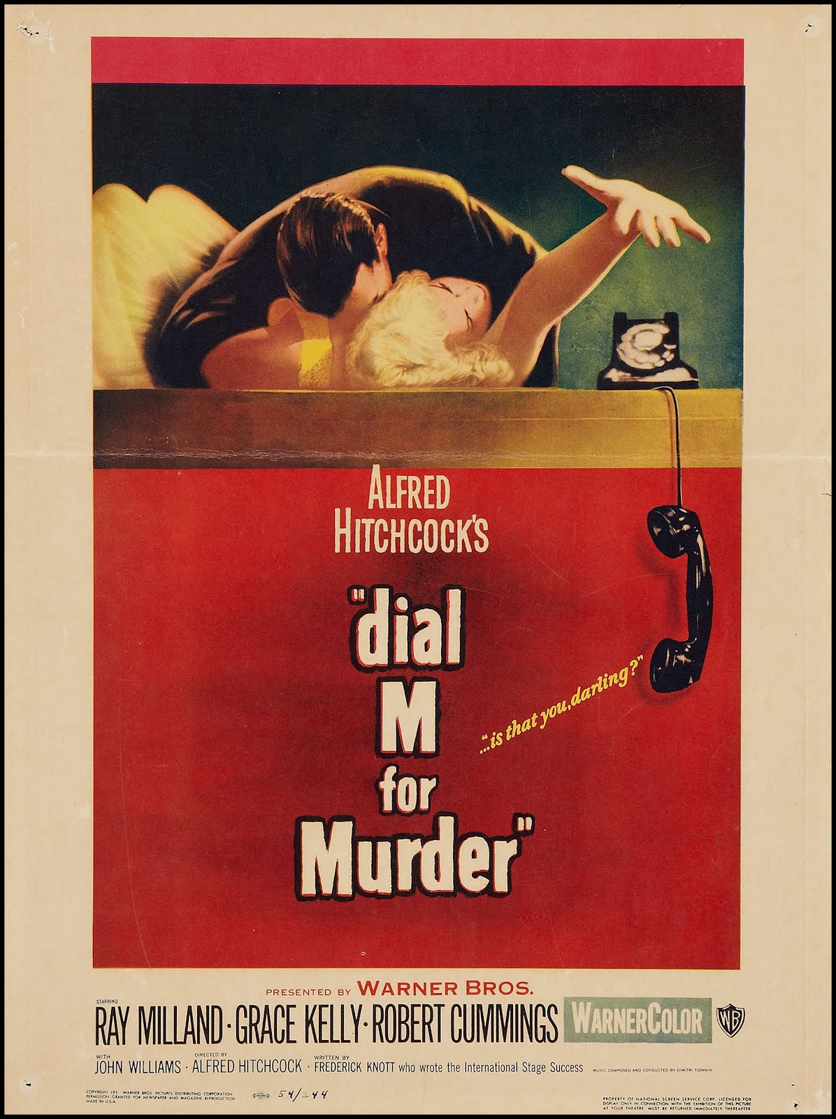 a movie analysis of dial m for murder by alfred hitchcock Fun facts and buy online title dial m for murder year 1954 director alfred hitchcock screenplay frederick knott overview (amazon) a suave tennis player (ray milland) plots the perfect murder, the dispatching of his wealthy wife (grace kelly), who is having an affair with a writer (robert cummings.