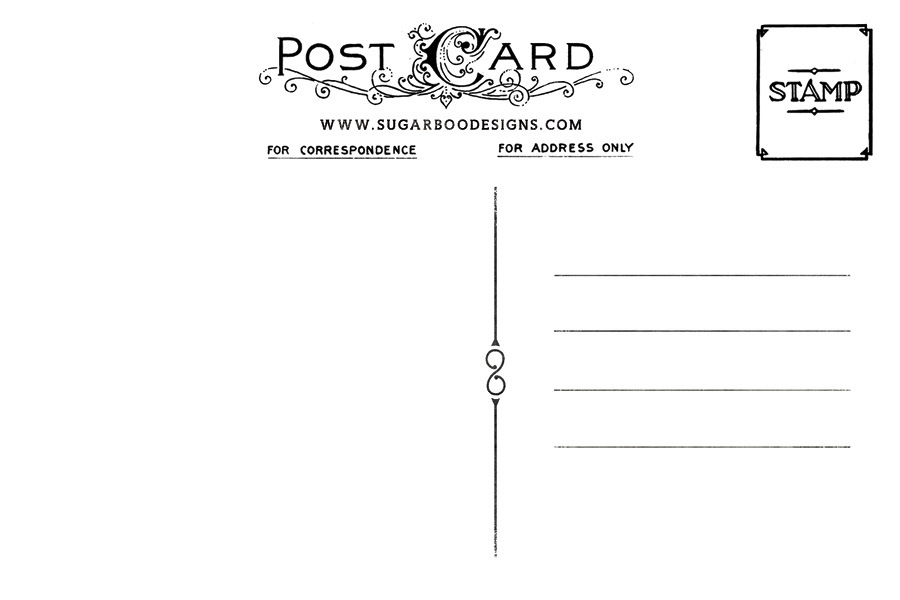 Sugarboo Designs - Products - Postcard Back