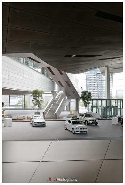 BMW Welt Car Museum Headquarter 650i Munich Germany Bavaria JHGphoto Olympiapark Architecture Interior Design Portrait Canon 5D MKII 16-35 24-70 2.8 L