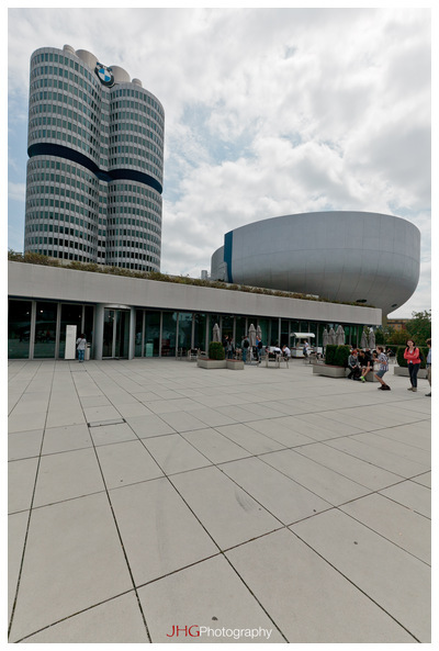 BMW Headquarter Munich Germany Bavaria Car Manufacturer Olympiapark JHGphoto Building Museum Welt photo