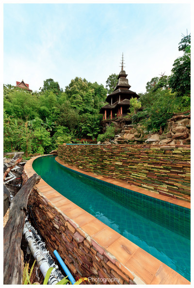Panviman Chiang Mai Spa Resort JHGphoto Thailand Hotel 5 stars pool swimming elephants canon 5d mkii