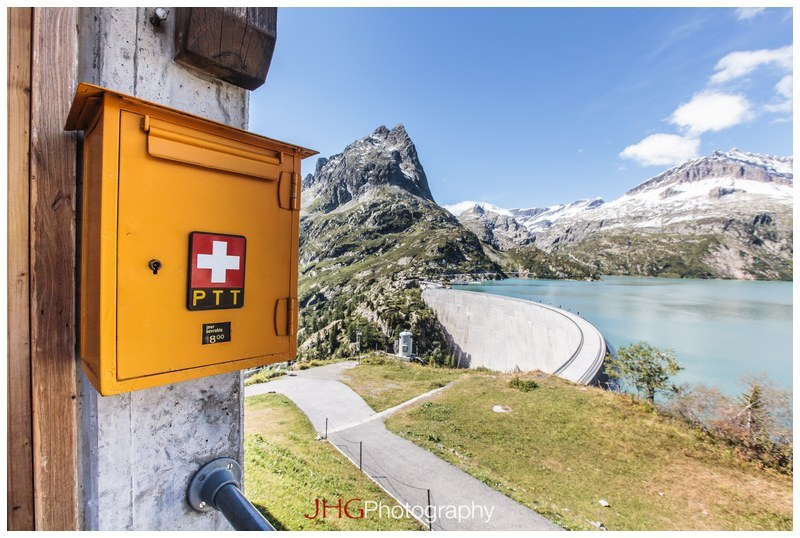 Emosson Dam Barrage Lake Lac Mountain Montagne Valais Suisse Switzerland Vieux Chatelard Funicular Funiculaire 87% slope pente monde portrait girl fille Canon 5D MKII 16-35mm 2.8 L USM Mont-Blanc Chain Schweiz JHGphoto photo JHG ladnscape nature scenery Martigny