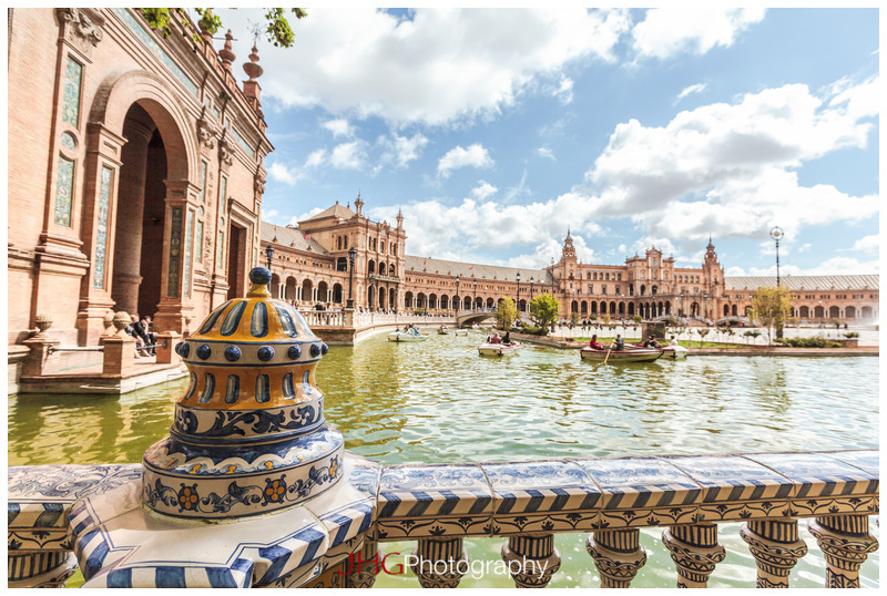 Plaza de Espana Spain Sevilla Seville Andalusia Andalousie JHG Photo Portrait City Site Architecture Art Deco Ibero-American Exhibition 1929 Building Place Espagne canon 5D MKII 16-35mm 24-70mm 100-400mm L USM