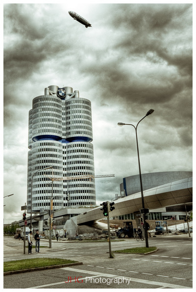 BMW Munich Munchen Germany Museum Welt Headquarter Bavaria JHGphoto.com