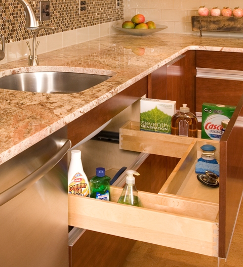 Wall Cabinet Push Drawer Kitchen Organizer