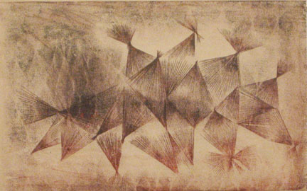"<p>Harry Bertoia<br />Untitled, 502<br />c. 1950's<br />Ink on Paper<br />9"" x 12""<br /></p>"