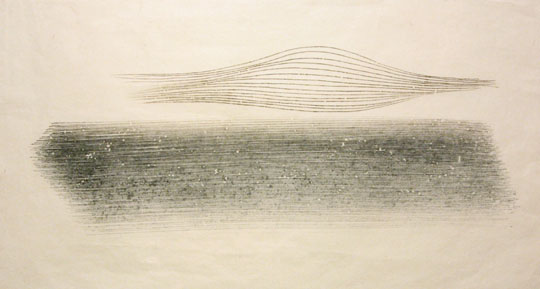 "<p>Harry Bertoia<br />Untitled, 979<br />c. 1970's<br />Ink on Paper<br />13"" x 25""<br /></p>"
