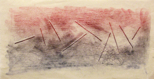 "<p>Harry Bertoia<br />Untitled, 715<br />c. 1960's<br />Ink on Paper<br />13"" x 24"" <br /></p>"