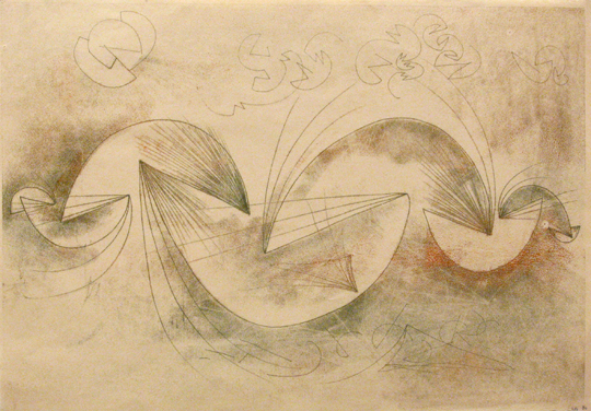 "<p>Harry Bertoia<br />Untitled, 803<br />c. 1940's<br />Ink on Paper<br />14"" x 20""<br /></p>"