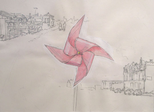 &lt;p&gt;&lt;span style=&quot;font-size: 80%;&quot;&gt;Hiro Sakaguchi&lt;br /&gt;&lt;em&gt;A Pinwheel Spins&lt;/em&gt;&lt;br /&gt;2006&lt;br /&gt;Graphite and Watercolor on Paper&lt;br /&gt;14 x 20&quot;&lt;/span&gt;&lt;/p&gt;<br/>&lt;p&gt;&lt;span style=&quot;font-size: 80%;&quot;&gt;&lt;strong&gt;In the collection of The Philadelphia Museum of Art&lt;/strong&gt;&lt;/span&gt;&lt;/p&gt;<br/>&lt;p&gt;&lt;span style=&quot;font-size: 80%;&quot;&gt;&lt;span&gt;Seraphin Gallery, Philadelphia, PA&lt;/span&gt;&lt;/span&gt;&lt;/p&gt;