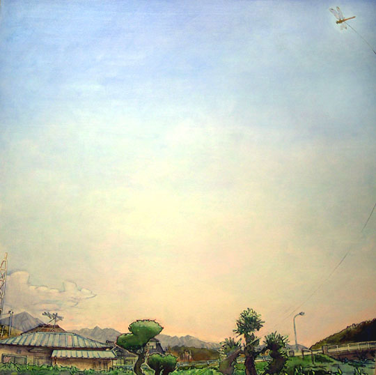 &lt;p&gt;&lt;span style=&quot;font-size: 80%;&quot;&gt;Hiro Sakaguchi&lt;br /&gt;&lt;em&gt;Walking with Dragonfly&lt;/em&gt;&lt;br /&gt;2006&lt;br /&gt;Acrylic on canvas&lt;br /&gt;42 x 42&quot;&lt;/span&gt;&lt;/p&gt;<br/>&lt;p&gt;&lt;span style=&quot;font-size: 80%;&quot;&gt;&lt;strong&gt;Placed in private collection&lt;/strong&gt;&lt;/span&gt;&lt;/p&gt;<br/>&lt;p&gt;&nbsp;&lt;/p&gt;